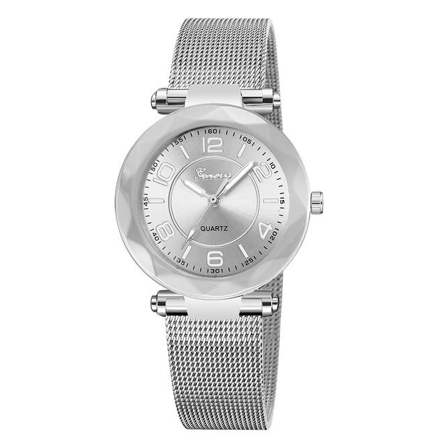 NEW Luxury Rose Gold Women Watches Crystal Female Stainless Steel Mesh Quartz Wristwatch Montre Femme 2019 Ladies Watches 30Q