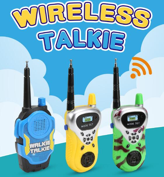 2pcs Electric Walkie-talkie Long-range Wireless Conversation Children Play House Toy Electric Interphone Birthday Gift For kid