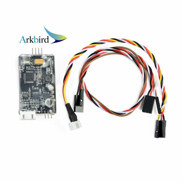 Airborne ARKBIRD-AAT onboard módulo FPV Antenna Tracker Auto Gimbal controlador Compatível com 1.2G 5.8G Sistema de Aterramento