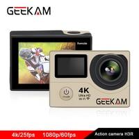 Action camera 4k ultra outdoor sports camera full hd 1080p 60FPS waterproof wifi dv go pro hero 4 cameras deportivas H3/H3R