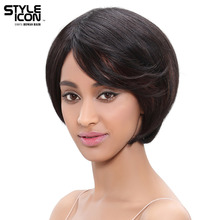 Styleicon Hair Brazilian Remy Hair Straight Wig 12 Inch Color HL1B/30 Short  Bob Human Hair Wigs For Women Free Shipping