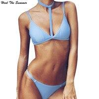 Sanar El Verano Nuevo Bikiní de Las Mujeres Clavícula marca de trajes de Baño de la Playa traje de Baño Femenino Pad Honda sexy traje traje de baño