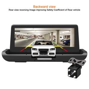Image 4 - Bluavido 8 inch 4G Android DVR Full HD 1080P Camera Thiết Bị Dẫn Đường GPS ADAS Hai Ống Kính nhìn xuyên Đêm tự động Ghi hình Dash Cam