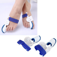 Genkent 1Pair High Quality Toes Protector Big Toe Straightener Bunion Hallux Valgus Corrector Night Splint Foot Feet Care