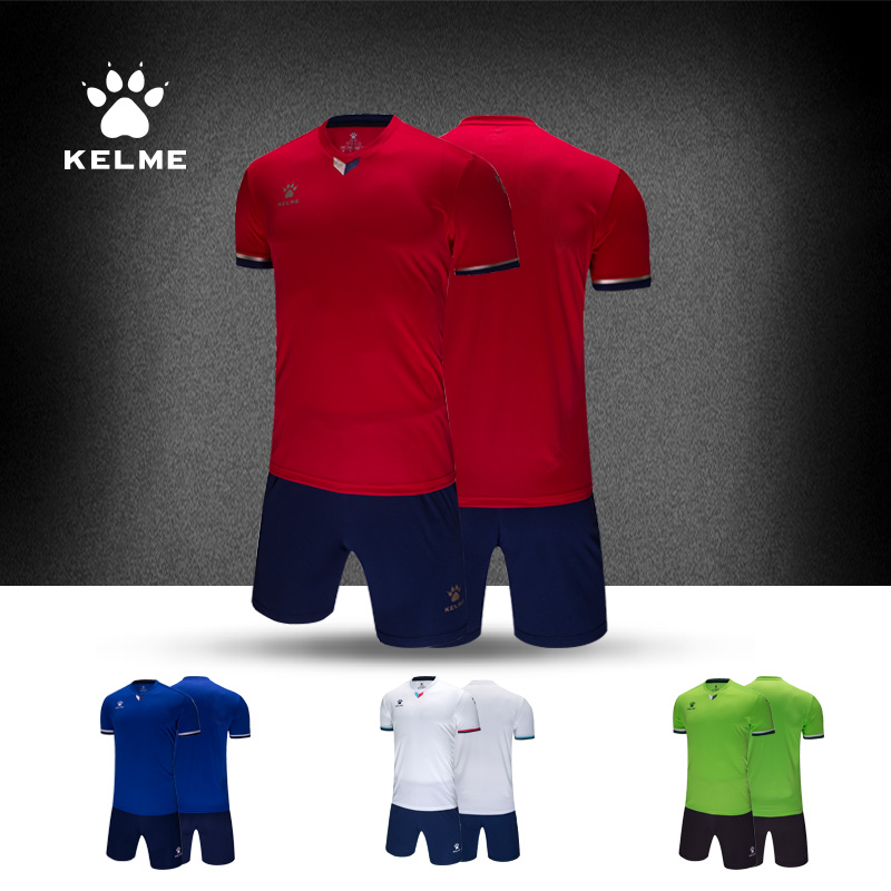 Kelme 2019 Men s Soccer Jersey Football Training Jersey Set Customized Breathable Survetement Jersey 3891048