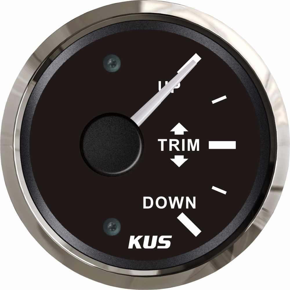 """مقياس تشذيب القوارب جديد KUS Universal 2 """"52 مللي متر محرك خارجي مقياس تشذيب بحري 12 فولت 24 فولت مع إضاءة خلفية حمراء/صفراء متوفرة 0-190ohm"""