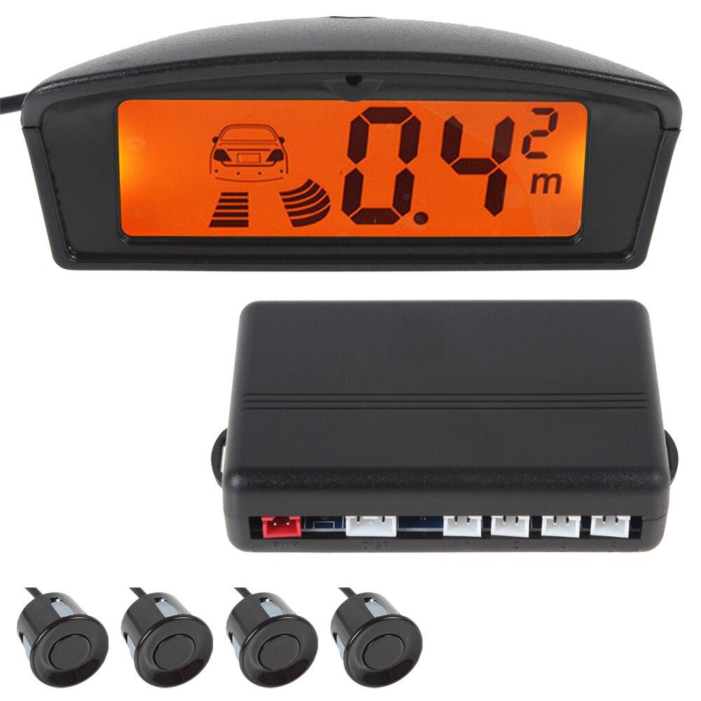 imágenes para Car Auto Parktronic Sensor de Aparcamiento LED con 4 Sensores de Reserva Del Revés Del Coche Del Radar Del Estacionamiento Sistema Detector de Monitor con Pantalla LCD
