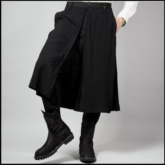 27-44 New Men's Autumn And Winter Plus Size Pants Hairstylist Personality Casual Trousers Skirts Stage Catwalk Singer Costumes