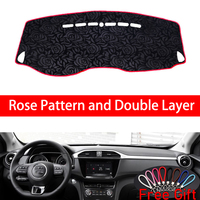 Rose Pattern For MG GS 2017 2018 2019 Dashboard Cover Car Stickers Car Decoration Car Accessories Interior Car Decals