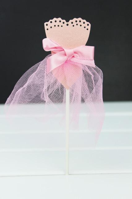 Pink princess dress wedding dress girl theme wedding decoration pink princess dress wedding dress girl theme wedding decoration cartoon cupcake toppers picks kid birthday party junglespirit Gallery