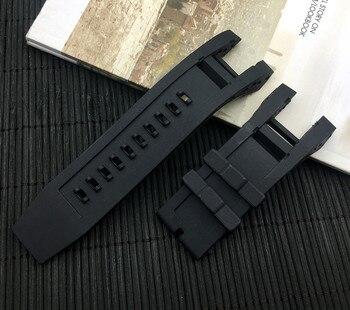 Lujosa correa de reloj de silicona negra de goma para hombre, correa de Invicta, Subaqua Noma IV Noma 4, 32mm, correa de reloj inteligente sin herramientas