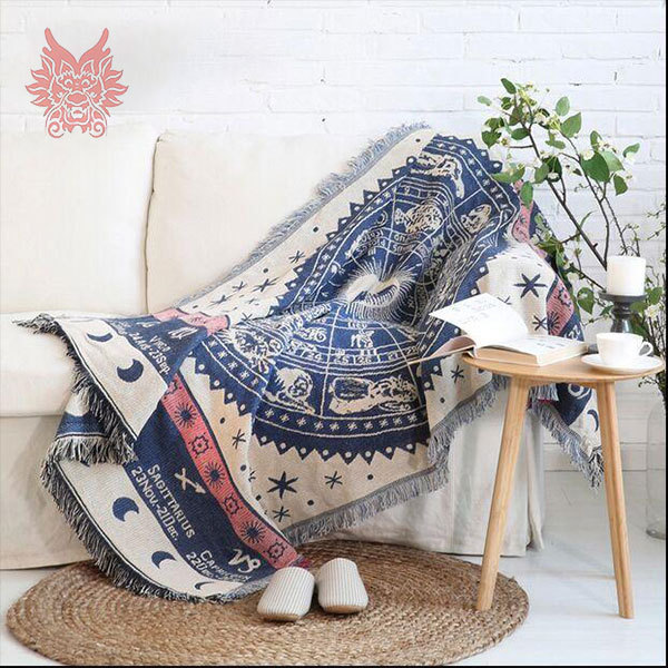 100%Cotton Sofa Cover Sofa Towel Europe Geometric Style Sofa/chair Blanket  Slip Resistant Vintage Sofa Cover Free Ship SP1893