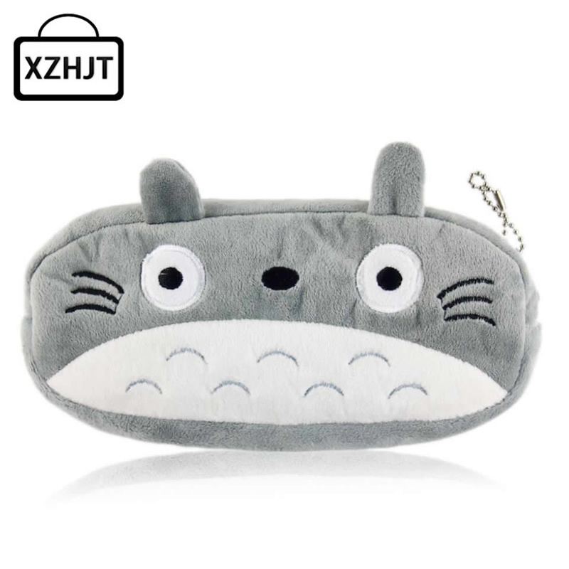 Cartoon Animals Hello Kitty Spongebob Totoro School Kids Pen Pencil Bag Case Girl Lady'S Coin Bag Cosmetics Purse Wallet new 2017 autumn baby kids set velvet hello kitty cartoon t shirt hoodies pant twinset long sleeve velour children clothing sets