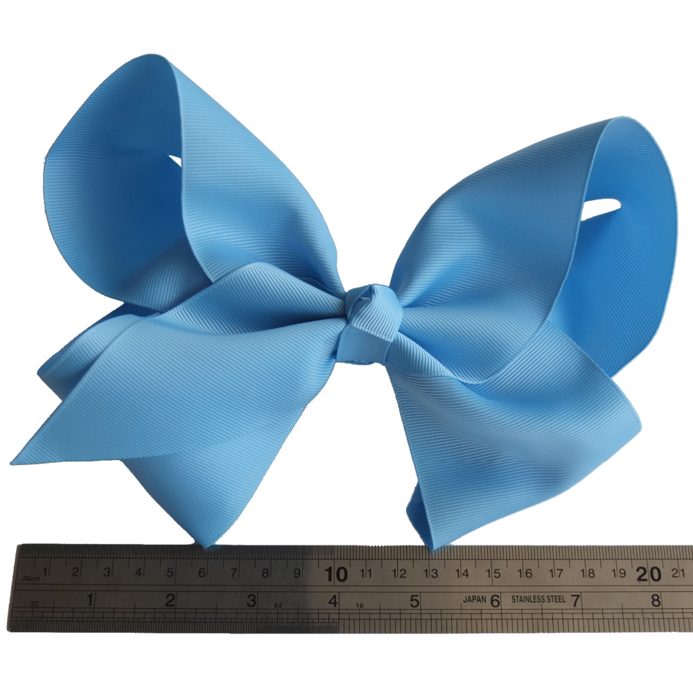 24 Colors 8 Inch Super Large hair bow Teen Girls Big Grosgrain hairbow Hair clips Boutique bows Hairpins Girls Accessories-in Hair Accessories from Mother & Kids    1