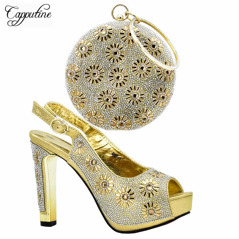 Capputine High Quality Italian High Heels Shoes And Bag Set For Party African Woman Purple Shoes And Bag To Match Set DF-08 capputine high quality italian gold shoes and bag set fashion african style high heels shoes and bag set for party dress tx 25