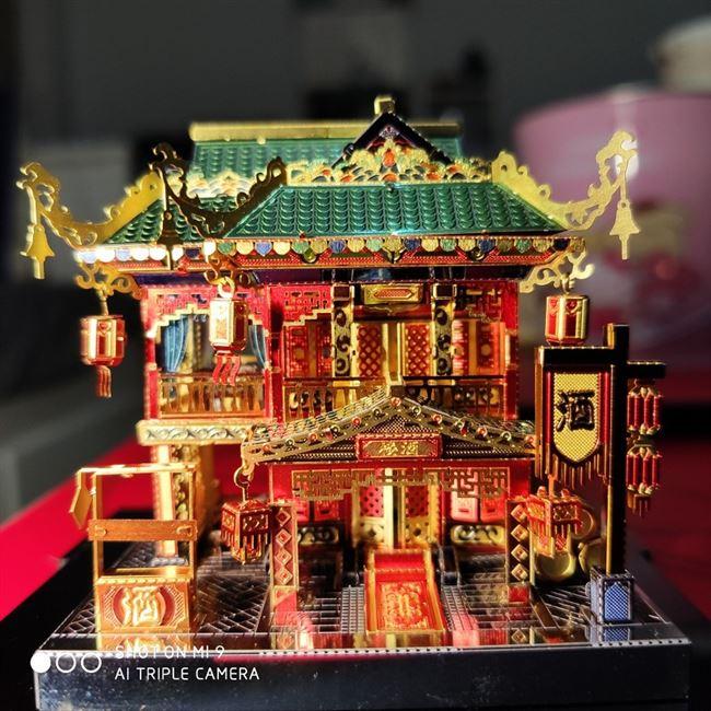 MMZ MODEL MU 3D Metal Model Kits Zui Xiao Tower Architecture  DIY Assemble Puzzle Laser Cut Jigsaw Building Toys Gift