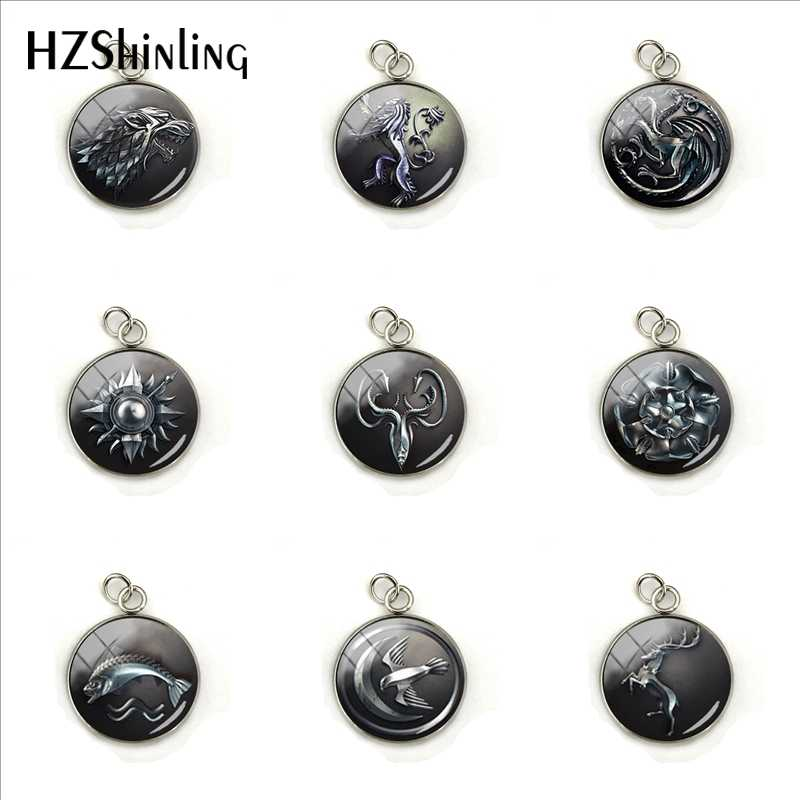 2019 New Retro Game of Thrones All The House Targaryen Gift Pendants Hand Craft Stainless Steel Plated Charms Gifts for Friends