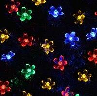 2017 Солнечные Строка 7 м 50 LED rope трубки светодиодные Фея Строка открытый сад Xmas партия Декор Водонепроницаемый полосы света