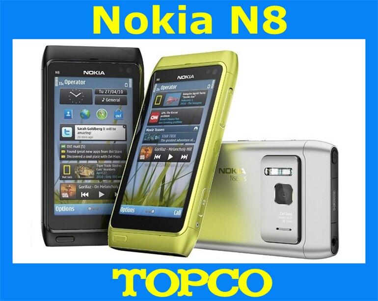 Цена за Nokia N8 3 г GSM мобильный телефон 12MP камера WIFI GPS 16 ГБ встроенной памяти N8 00 смартфон прямая поставка