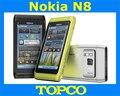 Nokia N8 3 G teléfono móvil GSM 12MP cámara WIFI GPS 16 GB de memoria interna N8-00 inteligente dropshipping