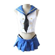 Kantai Collection Cosplay Shimakaze Womens Dress Sailor Suits School Uniforms Costume