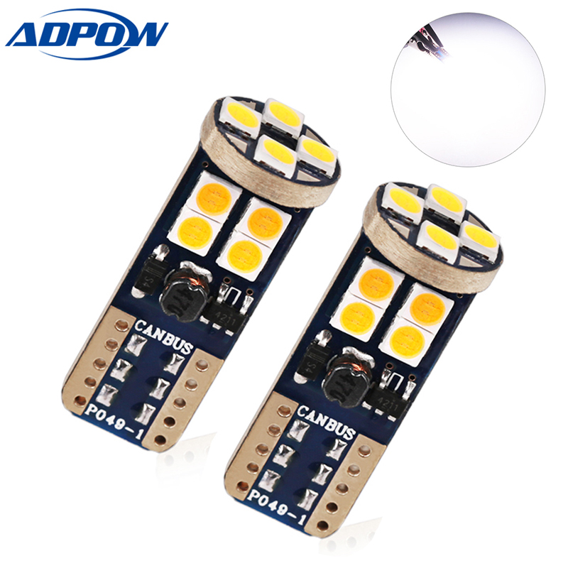 3030 <font><b>T10</b></font> 194 168 w5w Parking Light <font><b>4300K</b></font> 5000K 6000K White SMD Car <font><b>Led</b></font> <font><b>t10</b></font> Interior Wedge Auto Lamp 12v Light Bulb 12V image