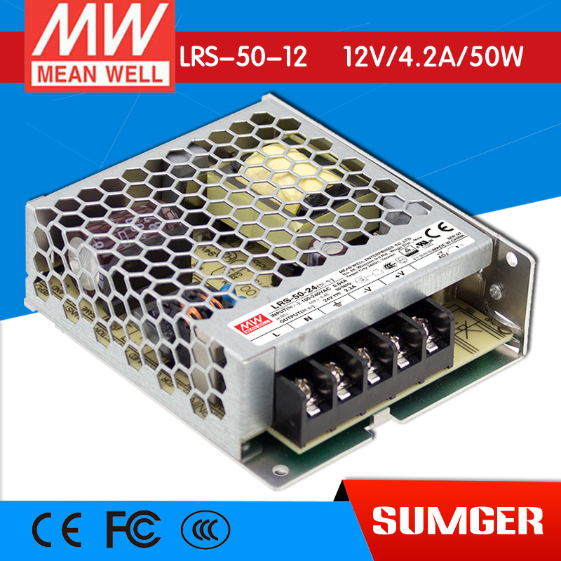 ФОТО [Freeshiping 2Pcs] MEAN WELL original LRS-50-5 5V 10A meanwell LRS-50 5V 50W Single Output Switching Power Supply