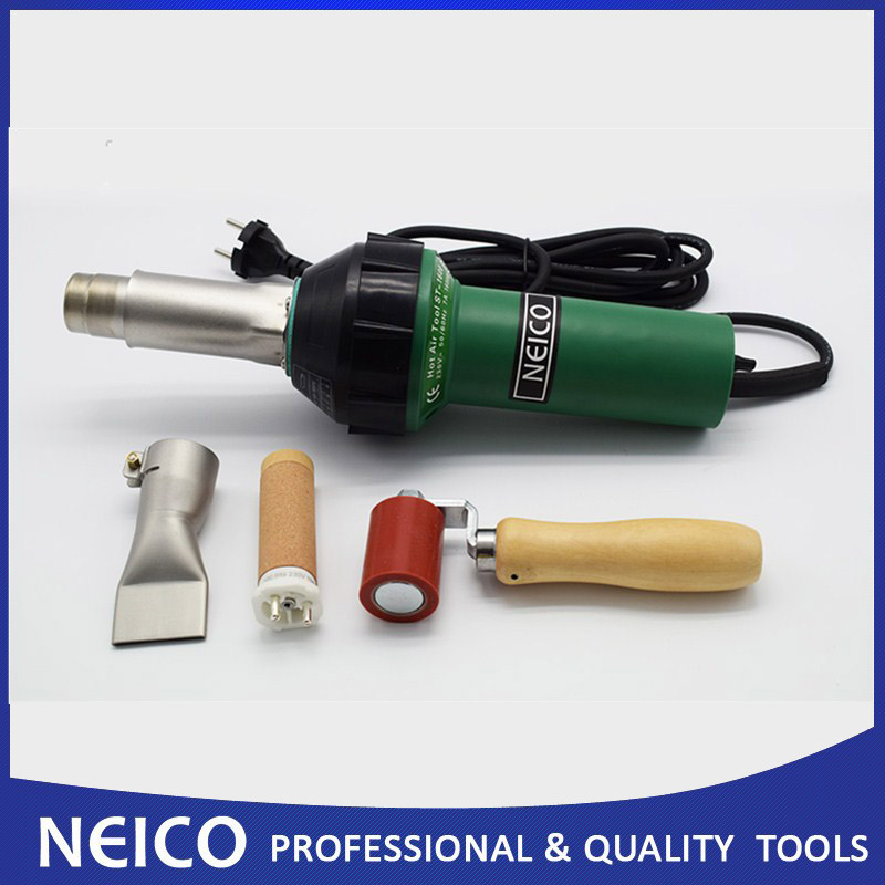 Free Shipping 110V 230V 1600W Hot Air Welding Gun With 40mm Silicone Pressure Roller Weld Nozzle