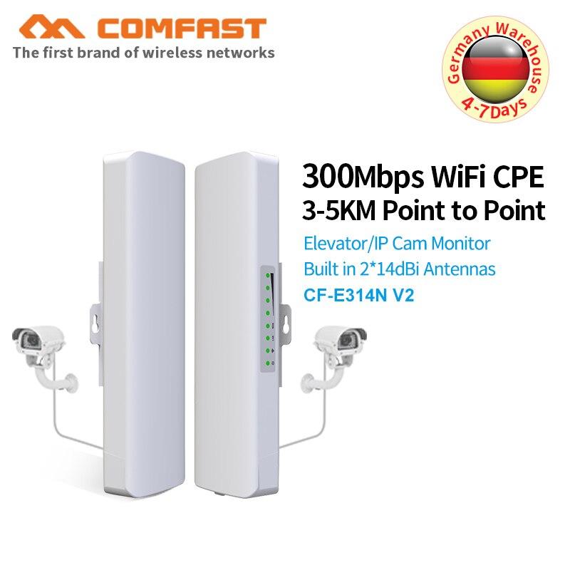 Caméra IP étanche 300 Mbps CPE COMFAST extérieure 2. 4G Point d'accès wi-fi pont sans fil 1-3 KM portée antenne de routeur d'extension