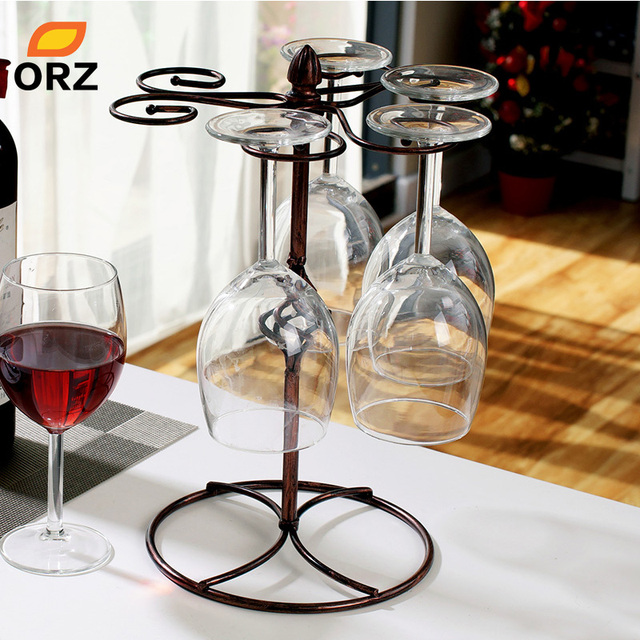 orz fashion wine glass rack home decoration modern living room wine glasses holder champagne stemware hanging