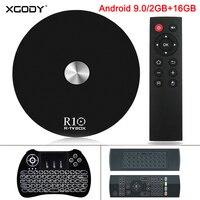 XGODY 2019 R10 Android 9.0 TV Box 2GB 16GB Quad Core Dual WIFI 4K Media Player Box Bluetooth 4.1 Smart TV Set Box