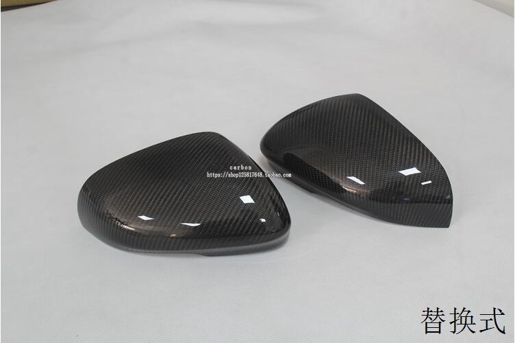 2pcs Full Replacement Carbon Fiber font b Car b font Side font b Mirrors b font