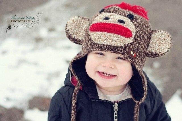 Leuke glimlach tanden jongen hoed kinderen baby stof zijde poster