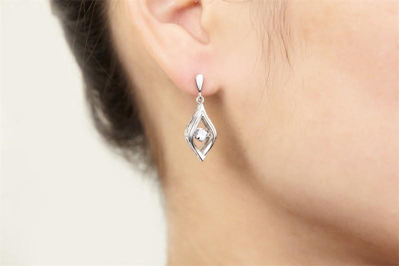 Double Sided Crystal 925 Sterling Silver Stud Earrings Women Fine Jewelry Cubic Zirconia Korean Fashion,925-sterling-silver-jewelry (5)