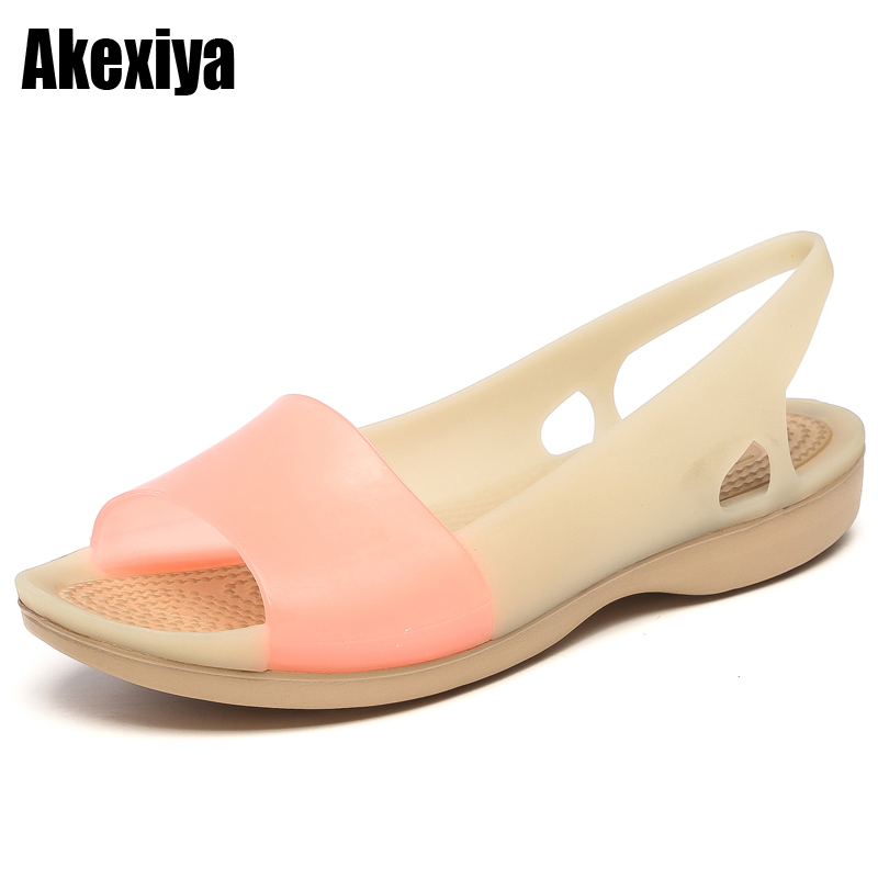 Women's Sandals 2018 Fashion Lady Girl Sandals Summer Women Casual Jelly Shoes Sandals Hollow Out Open toe Flats m493 vzehcu jelly sandals summer shoes casual woman gladiator flats sandals fashion hollow sandals plus size 36 41 2e03