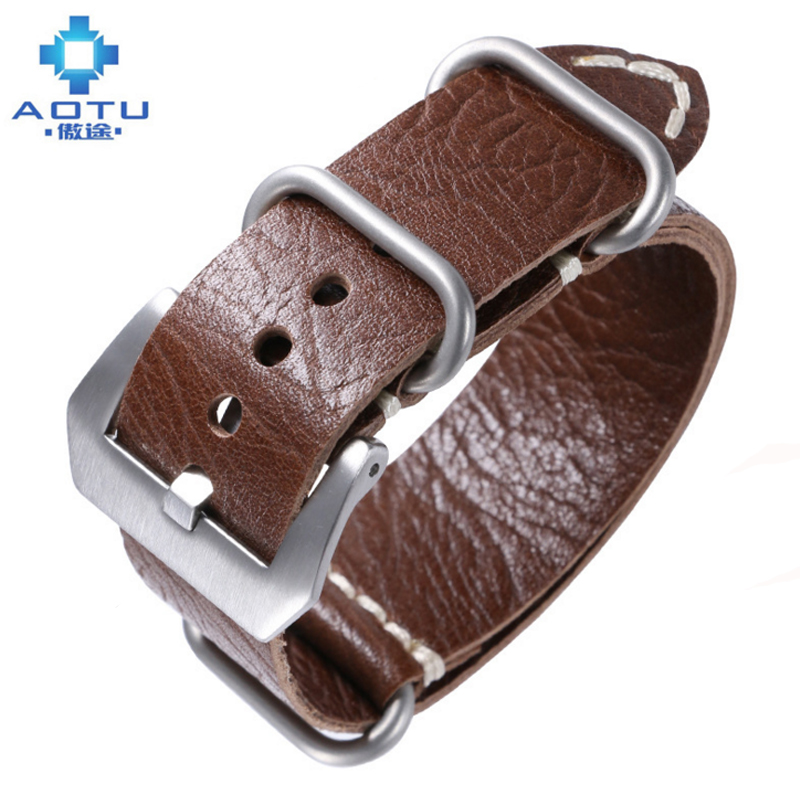 Genuine Leather Watch Straps For Panerai 24MM Handmade Leather Watch Band Men Watchbands For Panerai Watches Vintage Band Belt цена 2017
