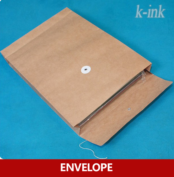 25pcs Button And String Envelopes Kraft Paper Portfolio A4 Document Bags Kraft File Bag
