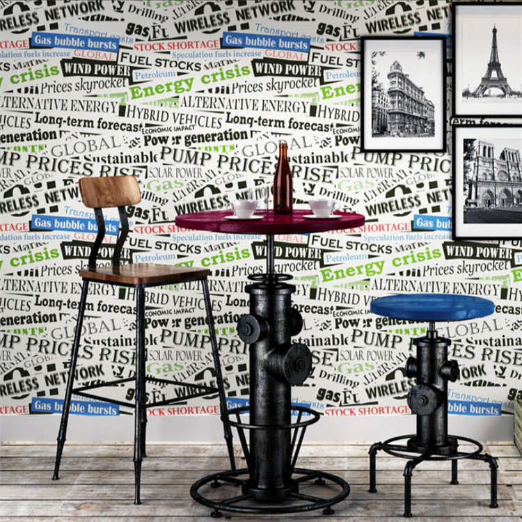 3D Retro Word Wallpaper Living Room Bedroom Backdrop Cartoon Childrenu0027s Room  Wall Paper American English Letters Part 52