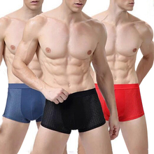 F Mens Breathable Comfy Modal Cotton Underwear Boxer Shorts Lingerie Soft Comfortable