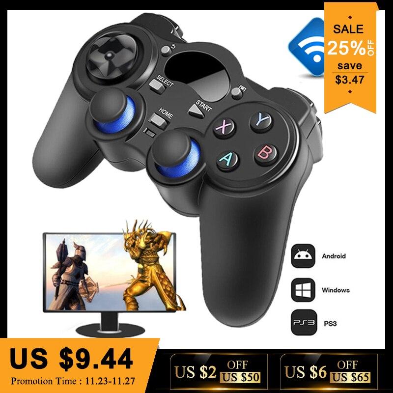 2.4g Controller Gamepad Android Wireless Joystick Joypad met OTG Converter Voor PS3/Smart Telefoon Voor Tablet PC Smart TV Box