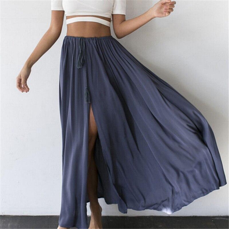 Elegant Women Skirts Brand New Fashion 2017 Ladies Skirt Long Tulle Skirts Straight Solid Mesh Skater Skirt Vestidos