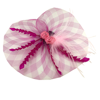New 2013 Fashion Fascinator Flower Feather Ribbon Cocktail Hat Hair Accessories For Women Couture Headpieces Headdress