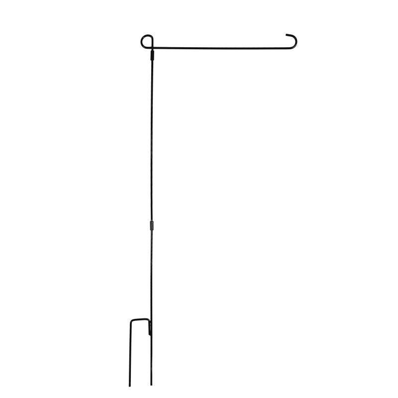 2018 Banners accesorios jardín pedestal asta negro hierro forjado pequeña bandera soporte para patio jardín bandera titular