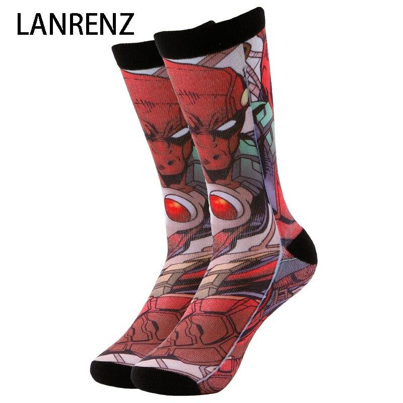 NOUVEAU méchant héros Deadpool Corps Hommes et femmes de mode Drôle chaussettes 3d imprimé chaussettes 200 à tricoter peinture à l'huile de compression chaussettes