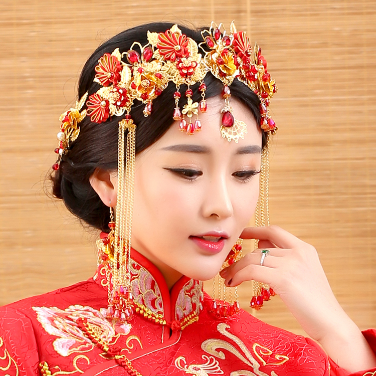 Gui Ge Traditional Chinese Wedding Bride Hair Tiaras for ...