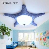 Средиземноморский простой современный Starfish потолочный светильник творческий теплая детская комната Спальня светодиодный потолочный свет