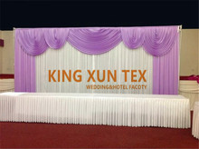 A Full Set Ice Silk Backdrop Curtain Wedding Stage Background With Pipe Stand Stent Free Shipping