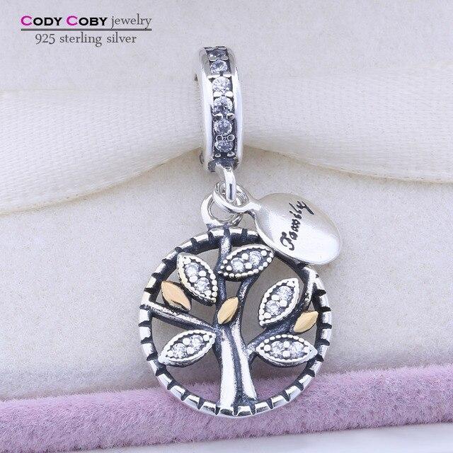 d98a99dcada1f6 US $12.98  Original 925 Sterling Silber Familie Baum Kristall Charme Perlen  Fit Pandora Armband Anhänger Authentische Schmuck pingente berloque in ...