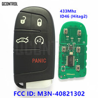QCONTROL FCC ID: M3N 40821302 Remote Smart Key for DODGE/Chrysler 300 Charger Journey Challenger Durango Keyless go