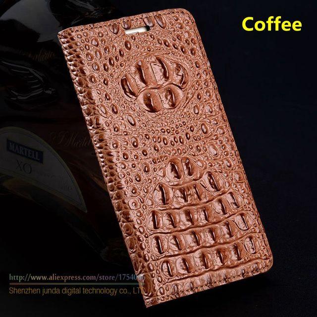 """Cobertura de moda para xiaomi mi max mimax 6.44 """"top Quality Genuine Leather Flip Caso De Luxo 3D Crocodile Grain + Brindes"""